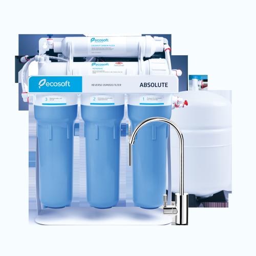 Система обратного осмоса Ecosoft Absolute 5-50P с помпой