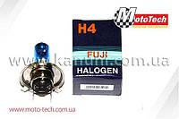 Лампа фары H4 (галоген) синяя H4 12V18/18W (больш. цоколь)