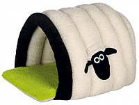 Домик-пещера Trixie Shaun the Sheep Cuddly Cave плюшевый, кремово-зеленый, 45х35х50 см, фото 1