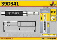 Держатель насадок магнитный 1/4'',  TOPEX  39D341