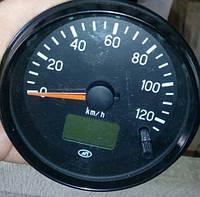Спидометр ГАЗ ЗИЛ КАМАЗ КРАЗ УРАЛ 24В 100мм (счетчик общего и суточного пробега) (87.3802)