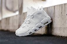 Баскетбольные кроссовки Nike Air More Uptempo Triple White, фото 2