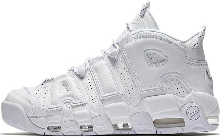Баскетбольные кроссовки Nike Air More Uptempo Triple White 9d590ec707be6