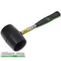 Киянка резиновая 900 г 90 мм, черная резина, металлическая ручка