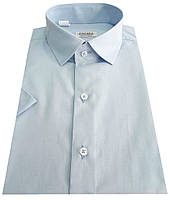 Мужская рубашка с коротким рукавом голубая №10/16 - 506/14-4112, фото 1