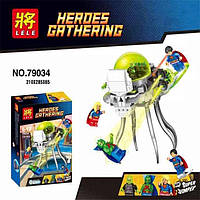 "Конструктор Lele 79034 (аналог Lego Super Heroes 76040) ""Атака Брейниака""  (Супер Герои), 179 дет"