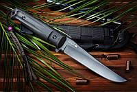 Нож туристический Croc Черный D2, черные ножны, Kizlyar Supreme