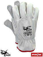 Кожаные рукавицы рабочие REIS (RAW-POL) Польша RLCSLUXOR W
