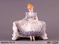 """Фарфоровая коллекционная статуэтка Lefard """"Девушка"""" 98-1224"""