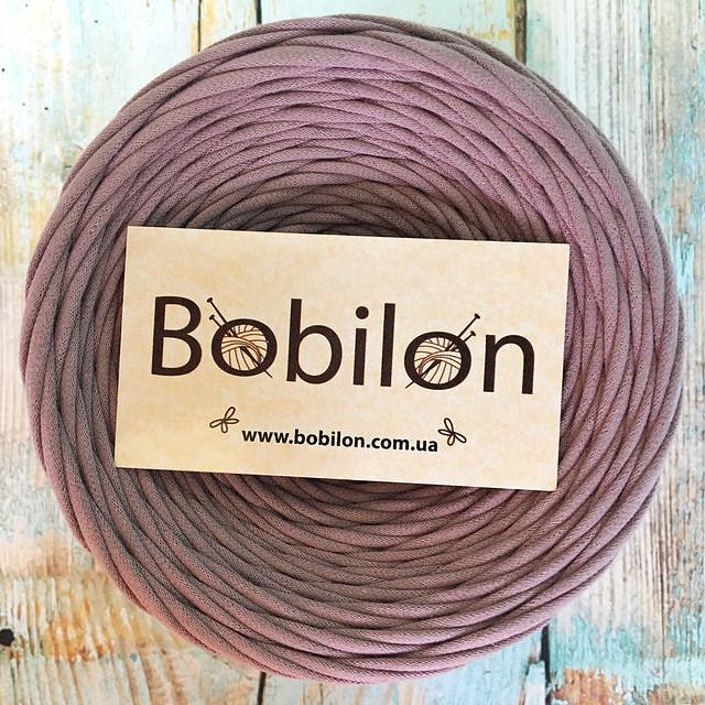 Ленточная пряжа Бобилон 5-7 мм, цвет лиловый