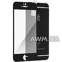 Защитное стекло iPhone 5s на обе стороны матовое черный