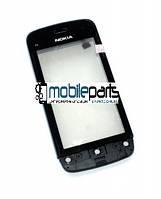 Оригинальный Сенсор (Тачскрин) для Nokia C5-03 | C5-06 (С рамкой) (Черный)