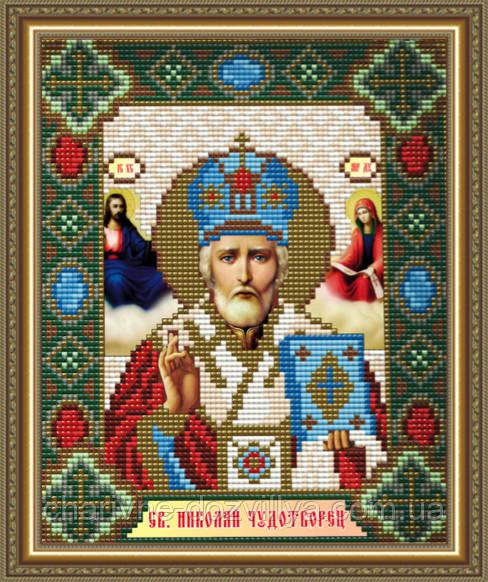 """Набор алмазной вышивки (мозаики) икона """"Святой Николай Чудотворец"""""""