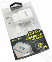 Сетевое зарядное устройство Micro/USB Aspor 2.4A