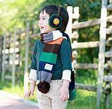 Детский вязаный шарф радуга, фото 2