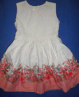 Нежное платье с цветочным принтом, ажурный верх