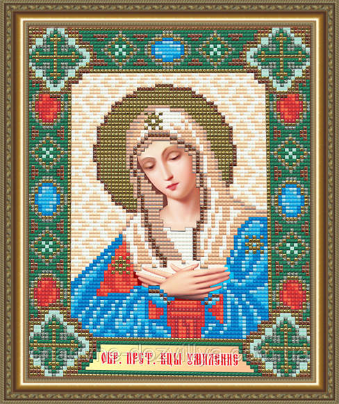"""Набор алмазной вышивки (мозаики) икона """"Богородица Умиление"""""""