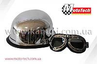 Шлем WLT-307 CHROME + ОЧКИ   MotoTech