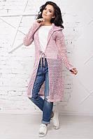Яркий кардиган-сетка Лондон розовый меланж