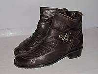 Jana _Германия _кожаные отличные ботинки _Португалия _3р_ст.23.5см Н50