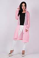 Модный кардиган-сетка Лондон розовый