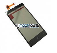 Оригинальный Сенсор (Тачскрин) для Nokia Lumia 820 ( С рамкой) (Черный)