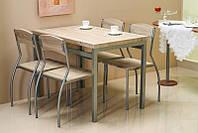 Комплект столовый стол стулья деревянный кухонный обеденный на кухню дуб сонома ASTRO 110x70 (Signal)