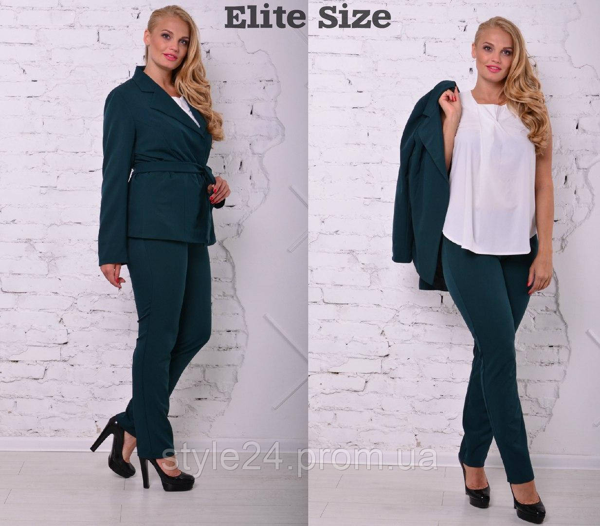Батальний костюм-тройка жакет + блуза +штани.Р-ри 46-58  продажа ... afa319d30f3c7