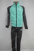 Детский спортивный костюм на девочку в стиле Adidas мятный