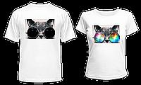 """Парные футболки """"Кот SWAG"""", фото 1"""