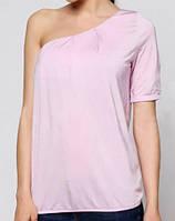 Женственная блуза с открытым плечом SiSi, цвет розовый, р. S-L