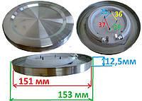 Тэн на дисковый чайник. диаметр 151\153 мм мощность 1600 вт на 220 в.Нержавеющий