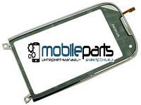 Оригинальный Сенсор (Тачскрин) для Nokia C7-00 (С рамкой) (Серебряный)
