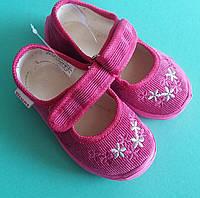 Тапочки в садик на девочку, текстильная обувь Vitaliya Виталия Украина, размеры 19 по 22,5
