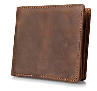 Мужской винтажный кожаный кошелек