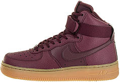 Женские кроссовки Nike WMNS Air Force 1 High Night Maroon