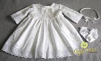 """Платье для крещения и на годик """"Белый налив"""""""
