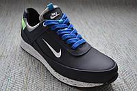 Кожаные кроссовки на мальчика синие Nike размер 36 37 38