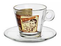 """Набор из 4 кофейных чашек с блюдцами 280 мл """"Латте"""" 650-646"""