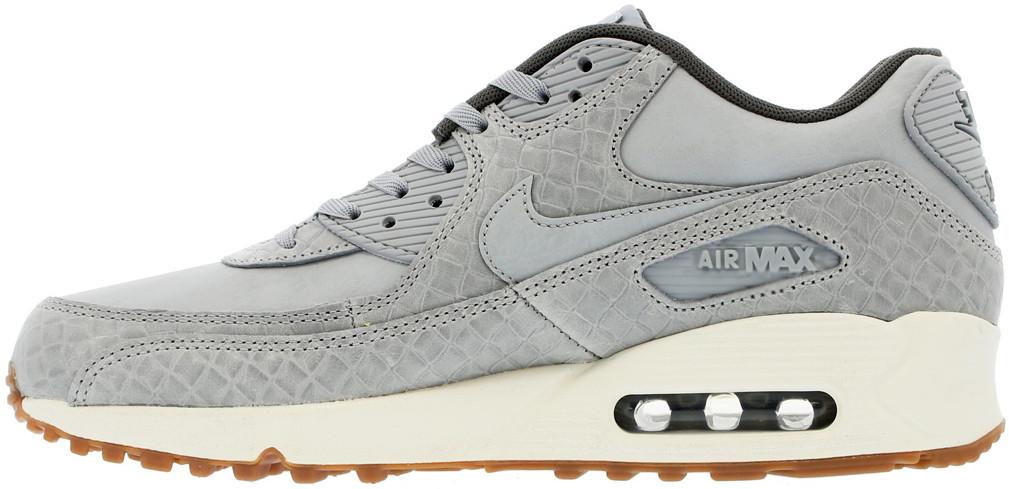 Женские кроссовки Nike Air Max 90 Premium Grey 443817-011, Найк Аир Макс 90