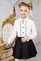 Блуза школьная Оборка Размер 122 - 152 см