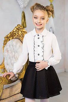 Блуза школьная Оборка Размер 122 см