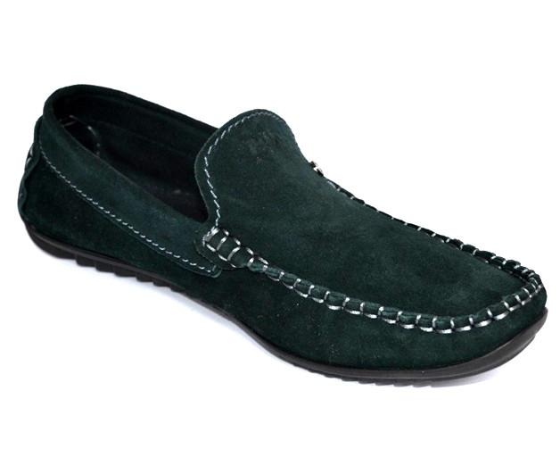 Зеленые мокасины замшевые обувь больших размеров мужская Rosso Avangard Alberto Green BS