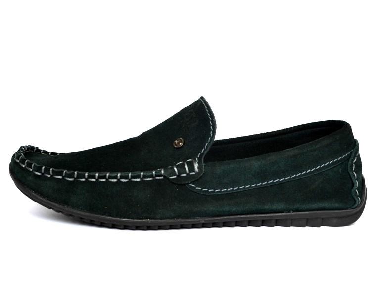 Зеленые мокасины замшевые мужская обувь летняя Rosso Avangard Alberto Green Emerald