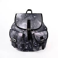 Серый женский городской рюкзак М6772