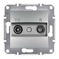 TV/R розетка проходная (4 dB) Asfora алюминий, EPH3300261