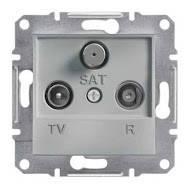 TV-R-SAT розетка проходная (4 dB) Asfora алюминий, EPH3500261