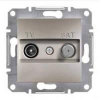 TV-SAT розетка проходная (8 dB) Asfora бронза, EPH3400369