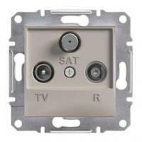 TV-R-SAT розетка концевая (1 dB) Asfora бронза, EPH3500169
