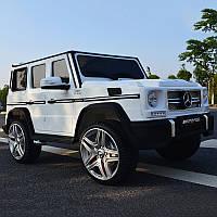 Детский электромобиль Mercedes G65 VIP M 3567 EBLR-1 Ева колеса+ кожа - Белый ***